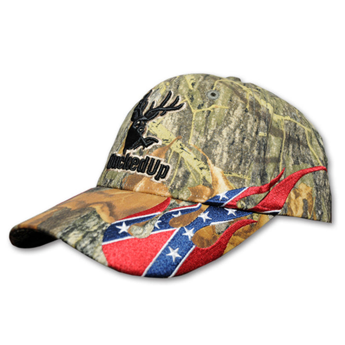 Camo with Rebel Flames Hat
