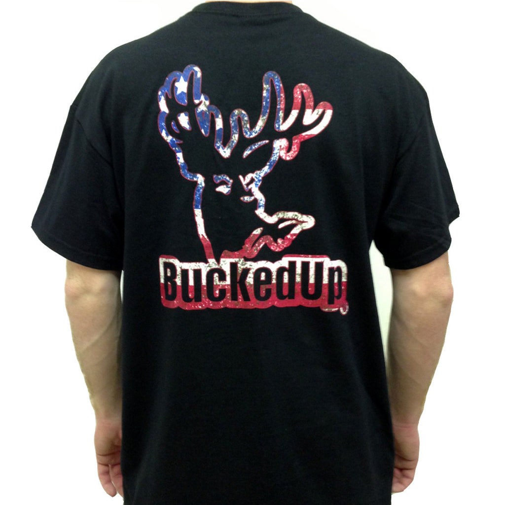 Short Sleeve Black with American Logo