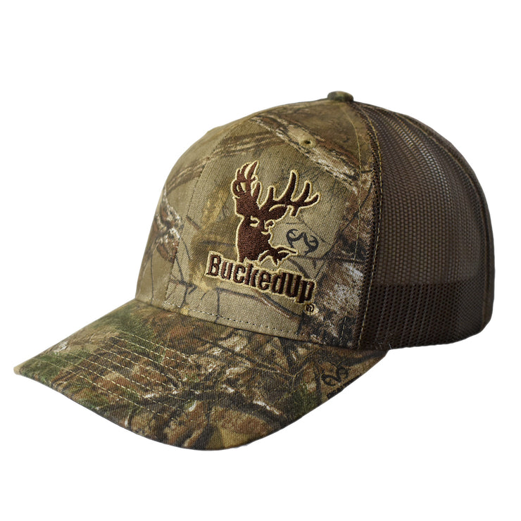 BuckedUp Realtree Xtra® Camo with Brown Mesh Snapback