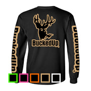 Long Sleeve Black with Classic BuckedUp® Logo