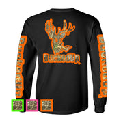 Long Sleeve Black with Color/Camo Logo