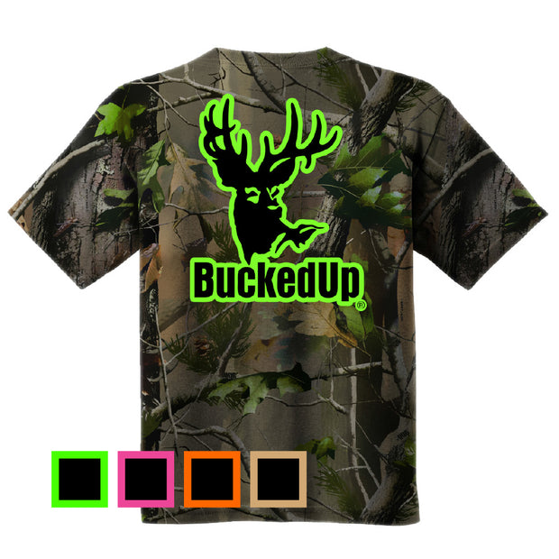 Short Sleeve Realtree APG Camo with Classic BuckedUp® Logo