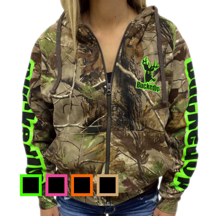 Realtree Camo Yoga Shorts Color Options By Girlswithguns22: BuckedUp Zipper Hoodie Realtree APG Camo With