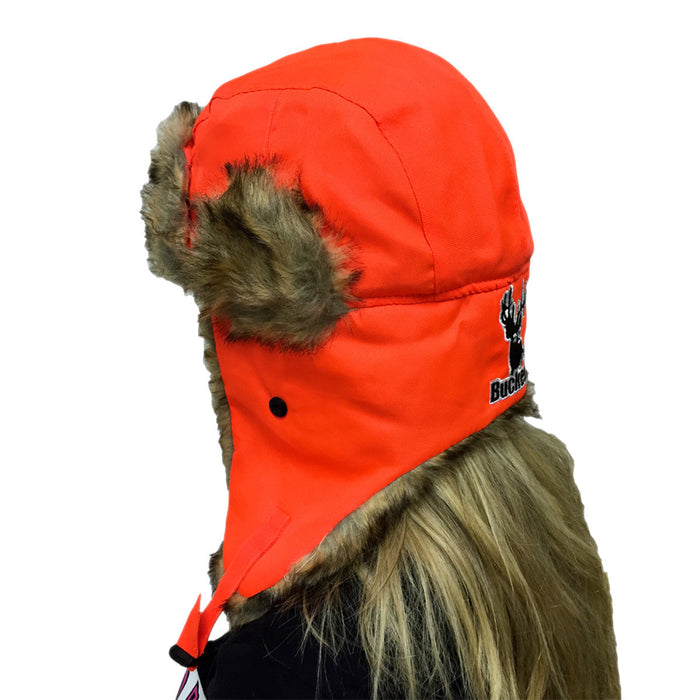 Hunter Orange Trapper Hat