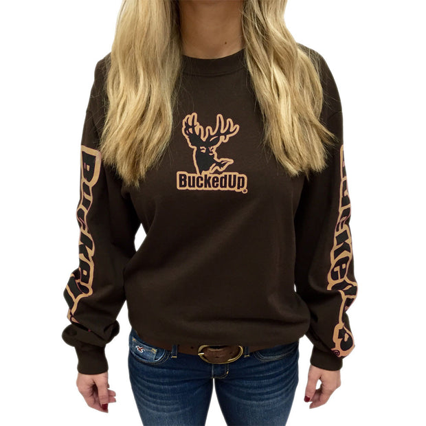 Long Sleeve Chocolate with Logo