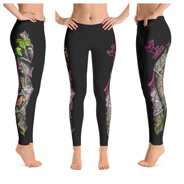 BuckedUp Dark Grey Realtree Leggings