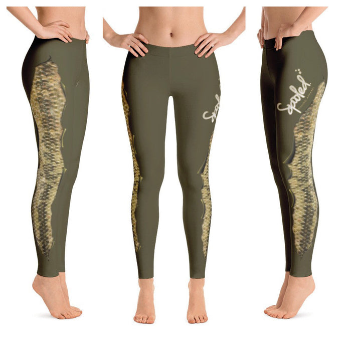 Spooled Bass Olive Green Leggings