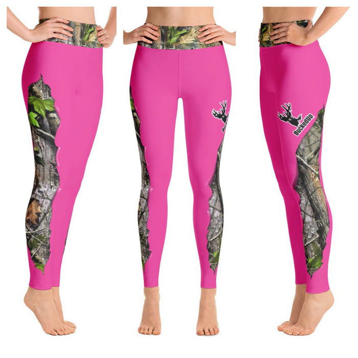 BuckedUp Pink Realtree APG Yoga Leggings