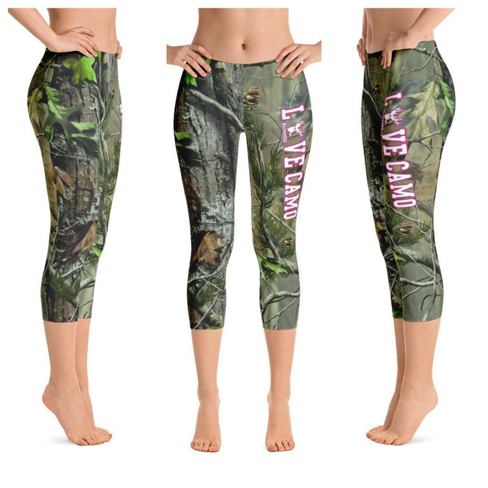 """LOVE CAMO"" Realtree APG Capri Leggings"