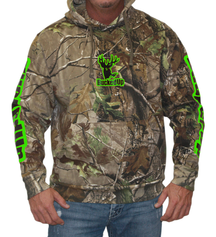 Pullover Hoodie Realtree APG Camo with Green Logo