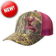 BuckedUp Realtree Xtra® Camo with Safety Pink Mesh Snapback