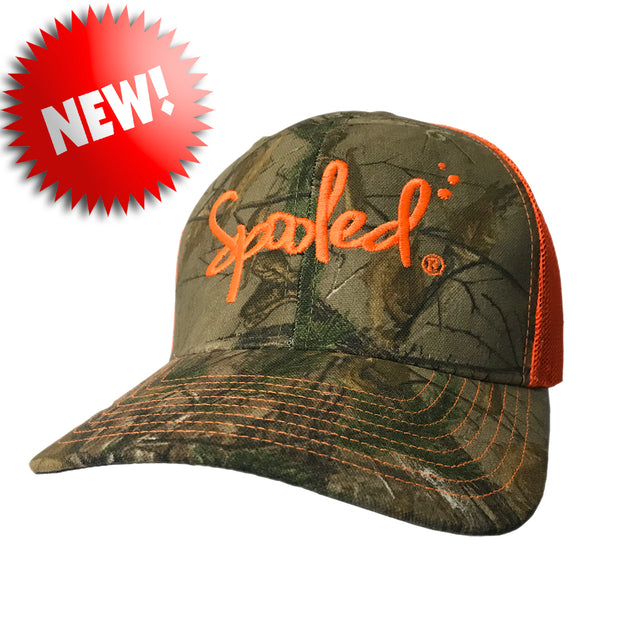 Spooled Realtree Xtra® Camo with Safety Orange Mesh Snapback