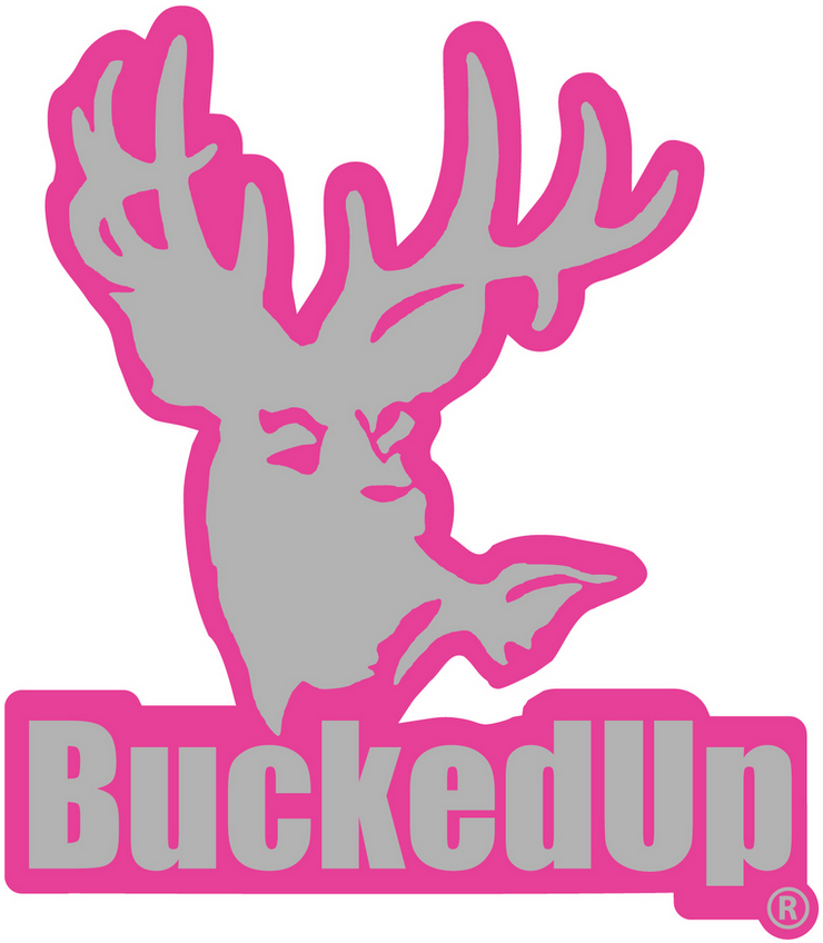 BuckedUp Pink Grey Decal