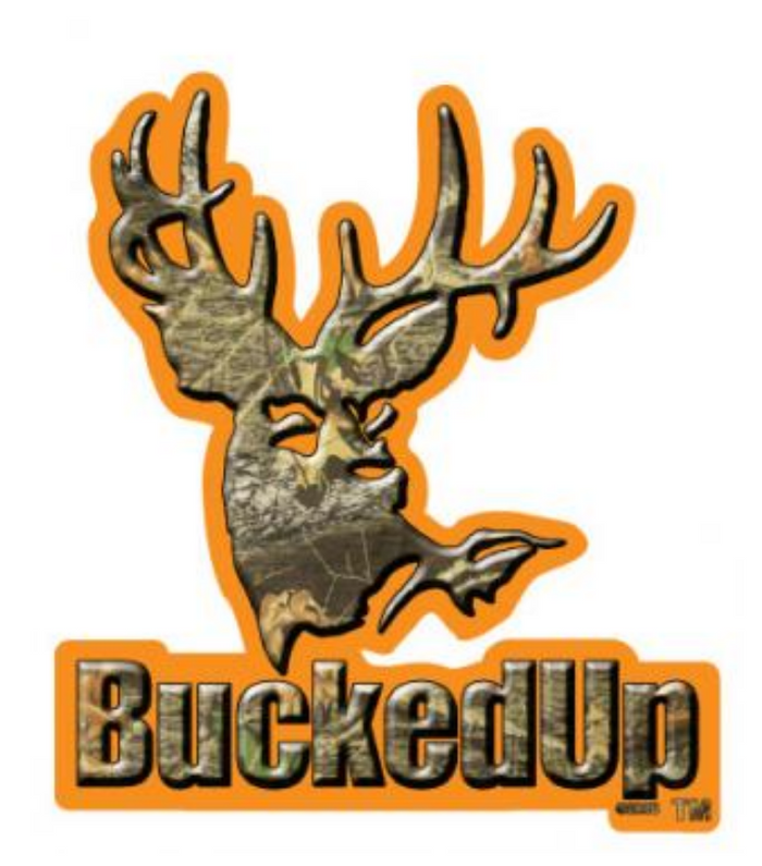 BuckedUp Orange Camo Decal