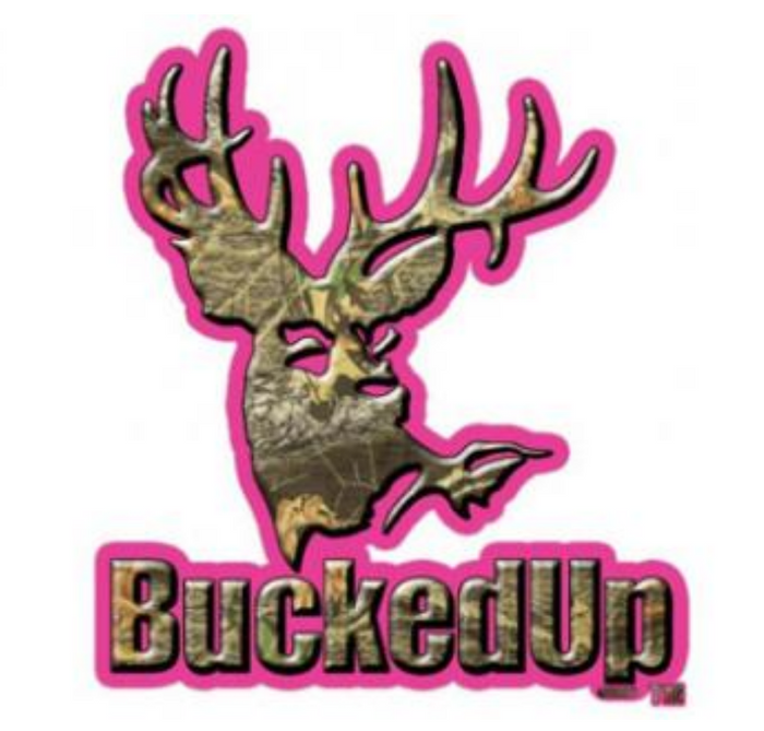 BuckedUp Pink Camo Decal