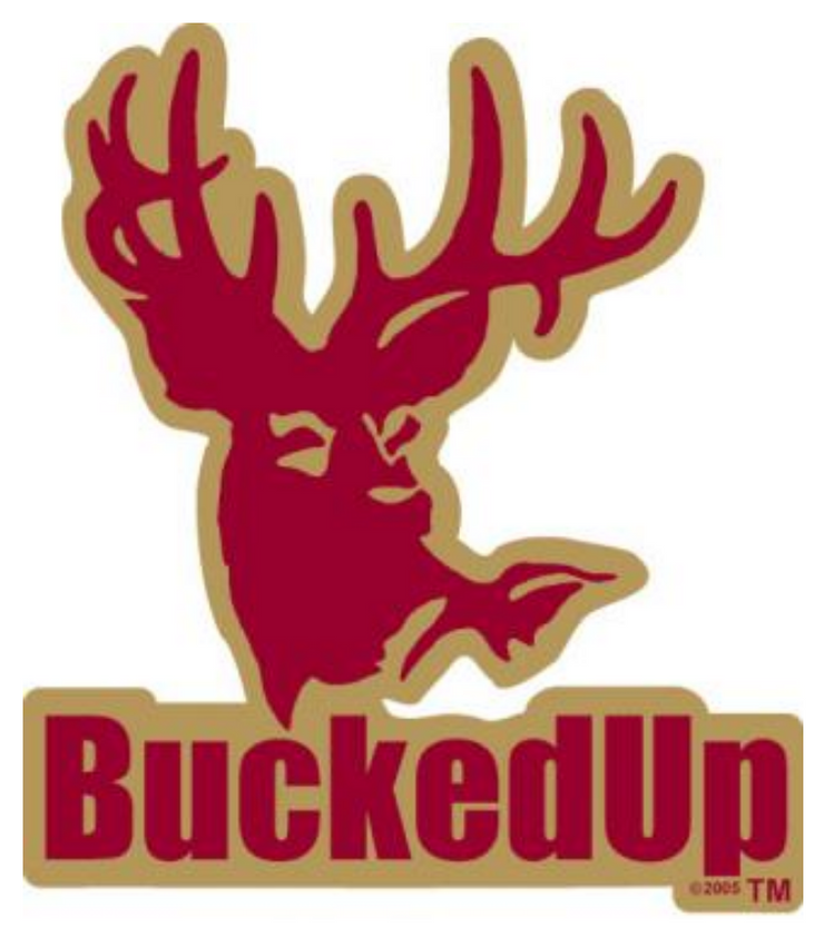 BuckedUp Garnet Gold Decal
