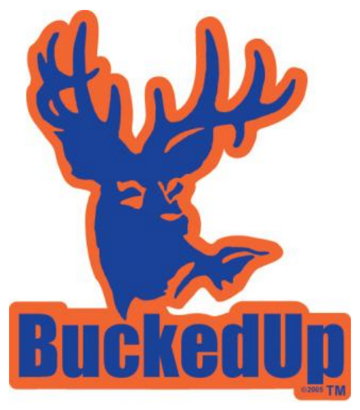 BuckedUp Blue Orange Decal