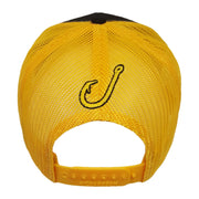 Spooled Black with Yellow Mesh Snapbacks