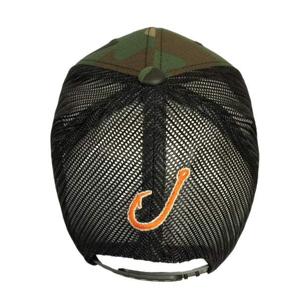 Spooled Camo with Black Mesh Snapbacks