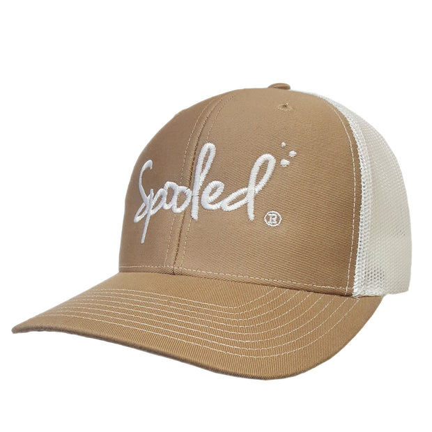 Spooled Tan with White Mesh Snapbacks