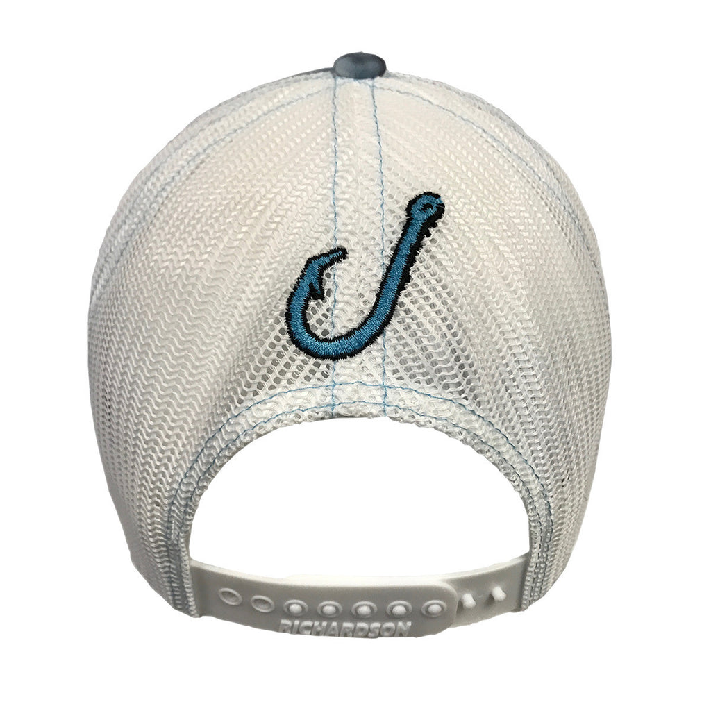 Spooled Water with White Mesh Snapbacks