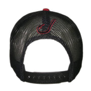 Spooled Red with Black Mesh Snapbacks