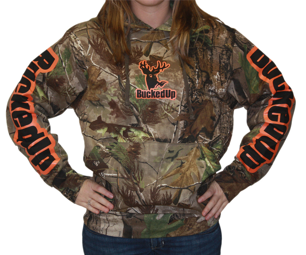 Pullover Hoodie Realtree APG Camo with Orange Logo