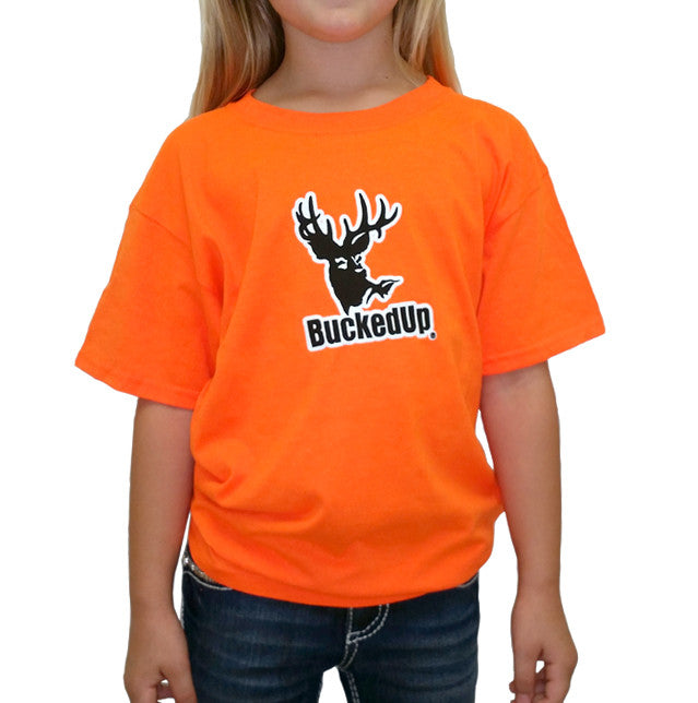 Youth Short Sleeve Safety Orange with White Logo
