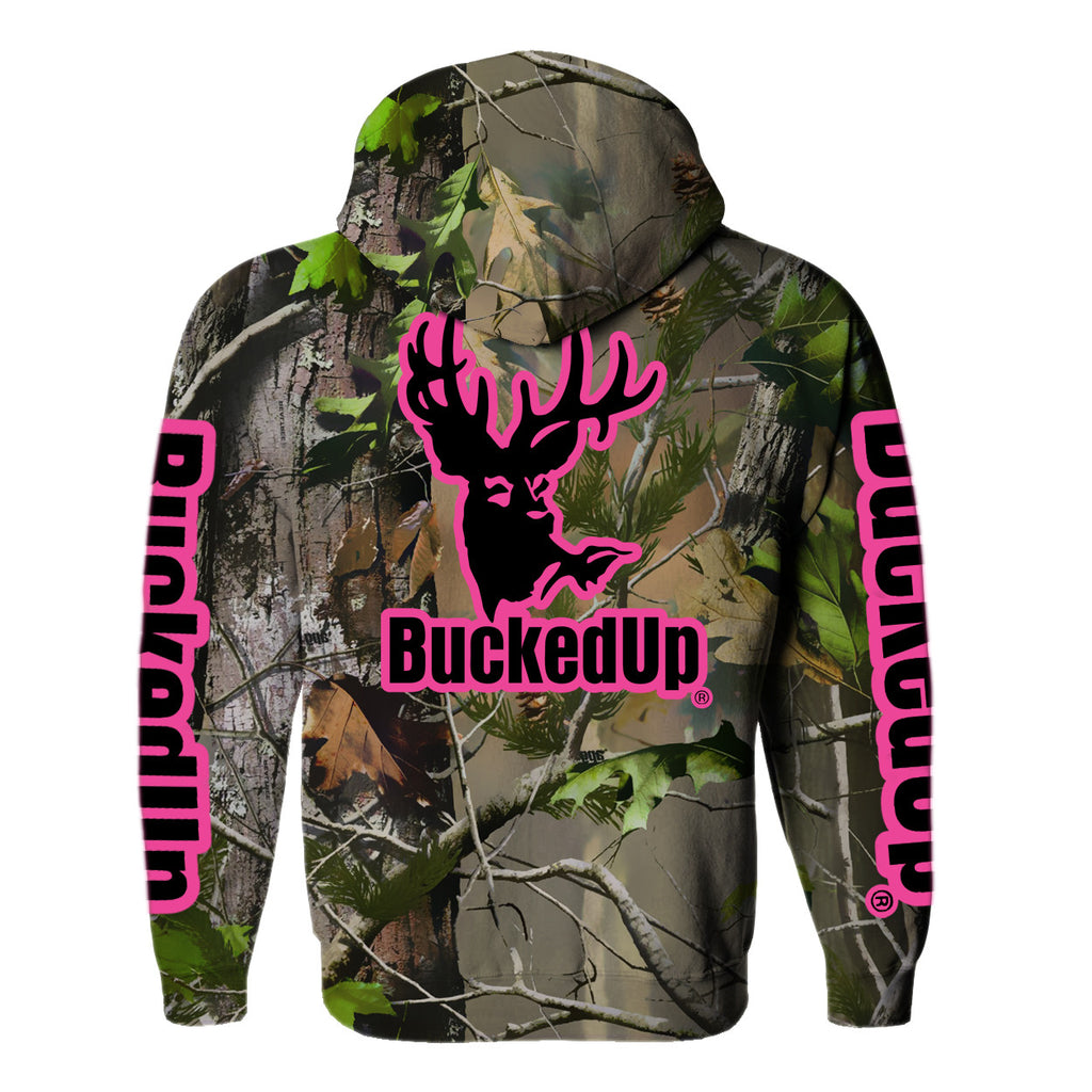 Zipper Hoodie Realtree APG Camo with Pink Logo