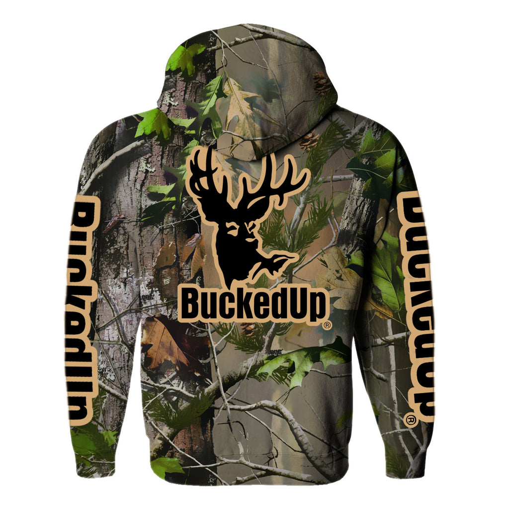 Zipper Hoodie Realtree APG Camo with Tan Logo