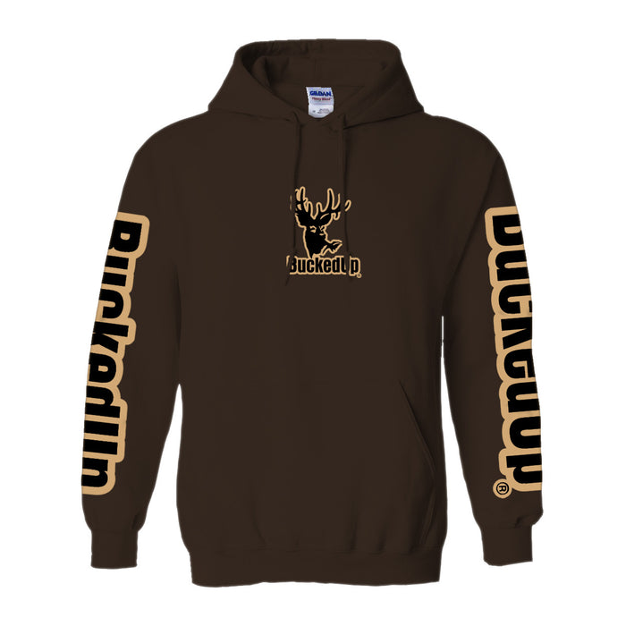 Pullover Hoodie - Chocolate with Tan Logo