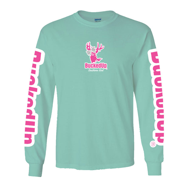 New Long Sleeve Light Green with Southern Girl Bow Logo