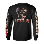 Youth Long Sleeve Black with American Logo