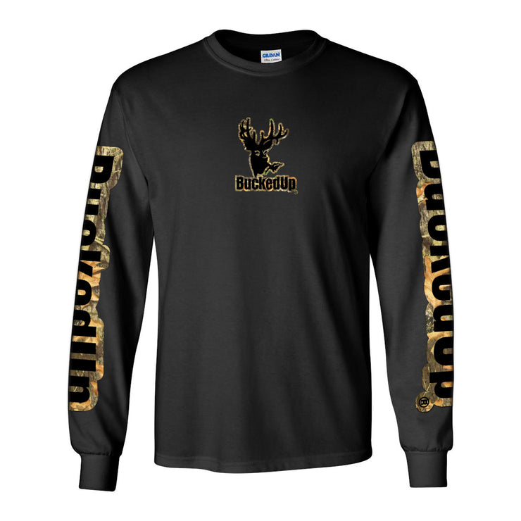 Long Sleeve Black with Camo Black Logo
