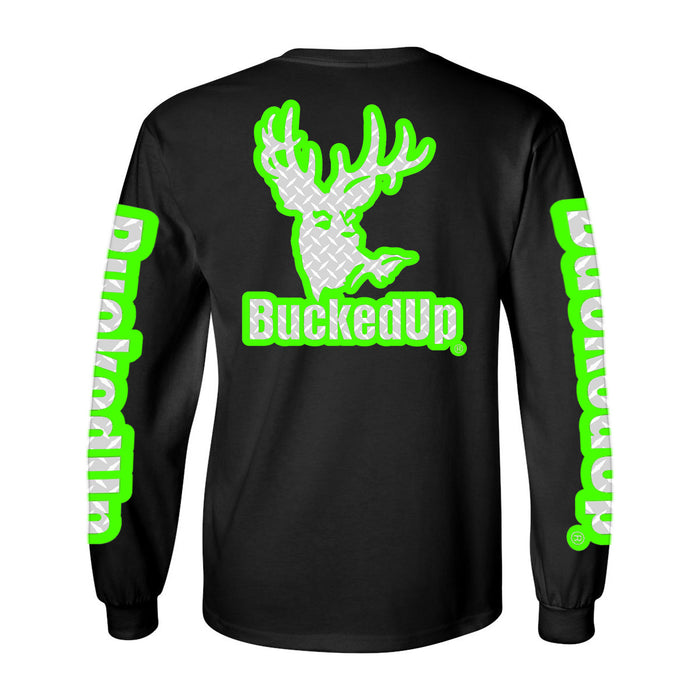 Long Sleeve Black with Green Diamond Plate Logo