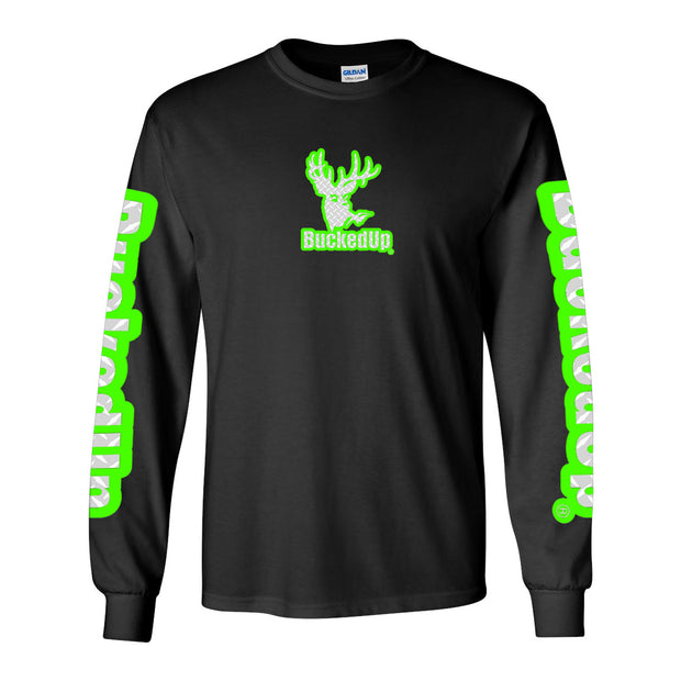 Long Sleeve Black with Diamond Plate Logo