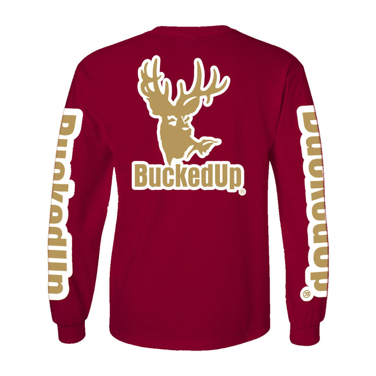 Long Sleeve Garnet with Gold Logo