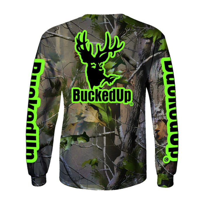 Long Sleeve Realtree APG Camo with Green Logo