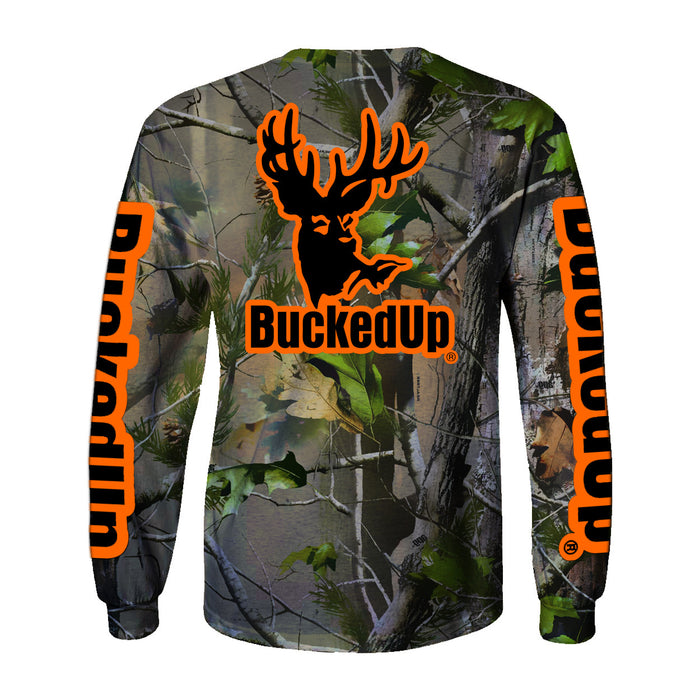 Long Sleeve Realtree APG Camo with Orange Logo
