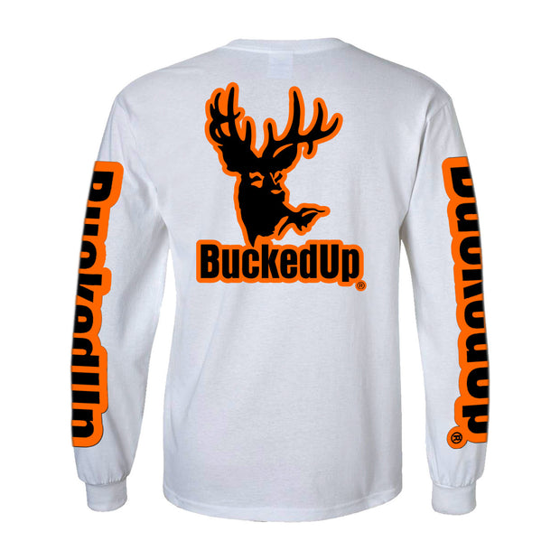 Long Sleeve White with Orange Logo