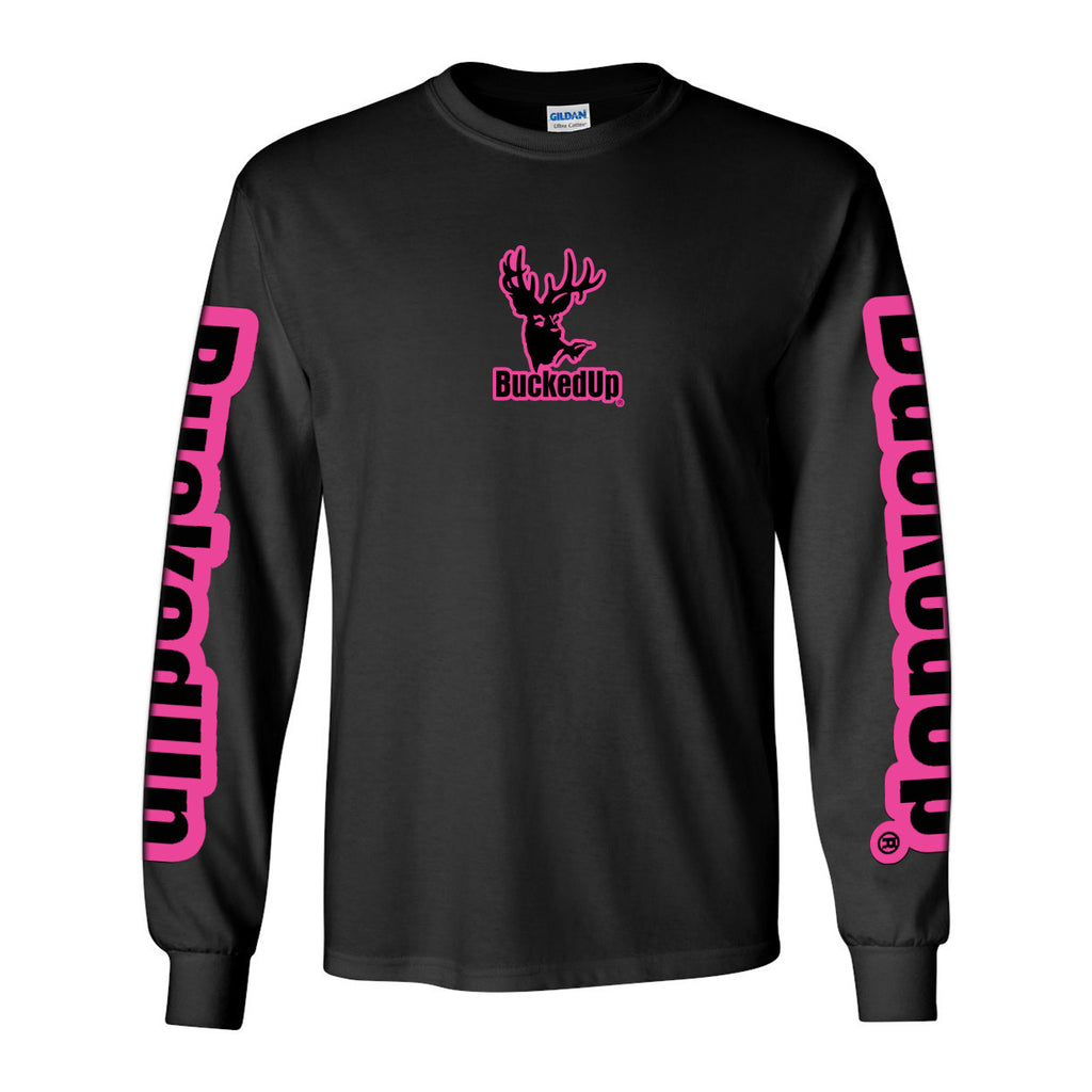 Long Sleeve Black with Pink Logo