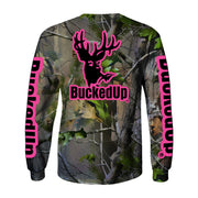 Youth Long Sleeve Realtree APG Camo with Pink Logo