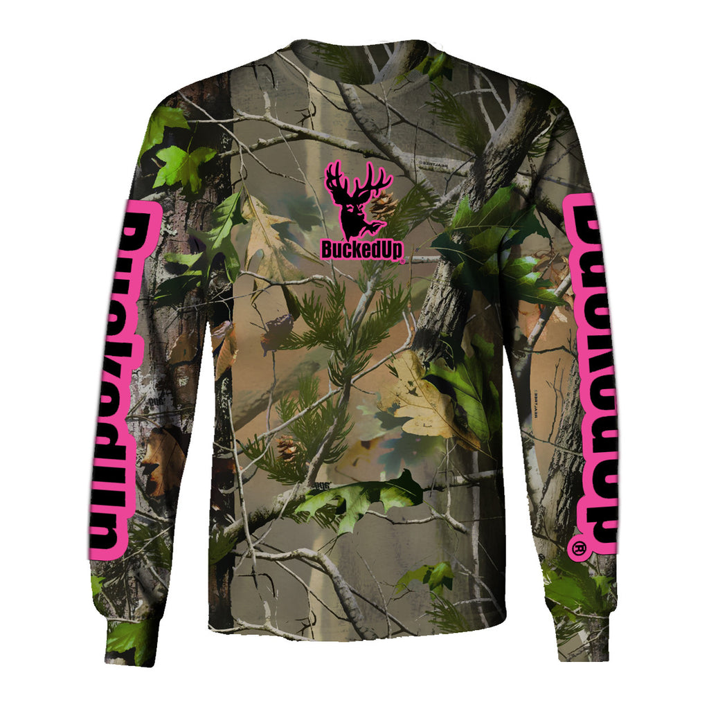 Long Sleeve Realtree APG Camo with Pink Logo
