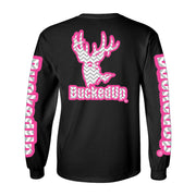 Long Sleeve Black with Pink Grey Chevron Logo