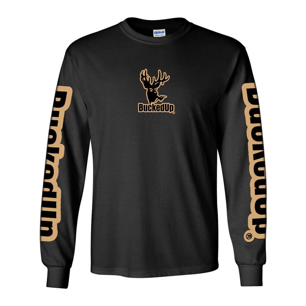 Long Sleeve Black with Tan Logo