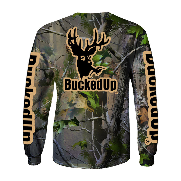 Long Sleeve Realtree APG Camo with Tan Logo