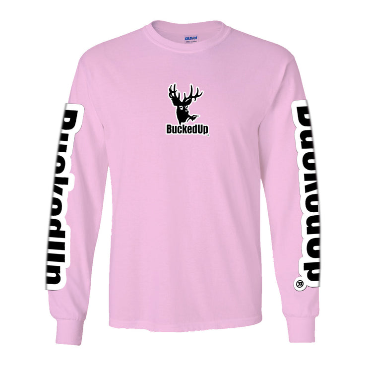 Long Sleeve Light Pink with White Logo