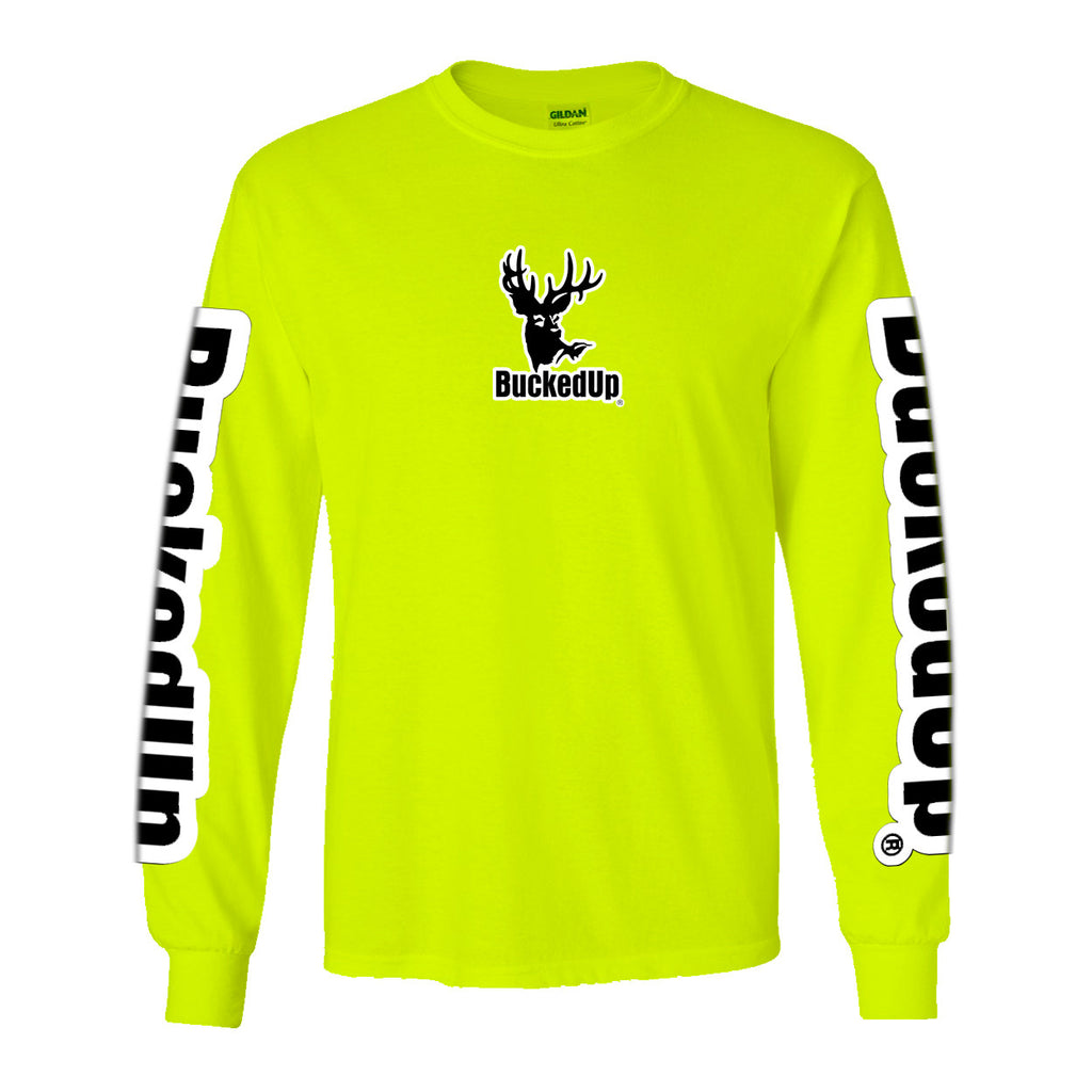 Long Sleeve Safety Green with White Logo