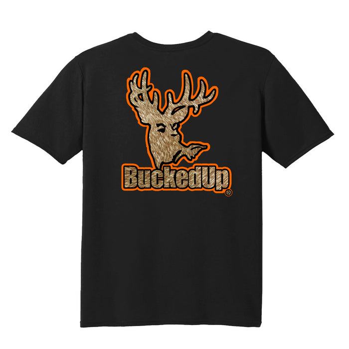 Short Sleeve Black with Orange Buckskin Logo