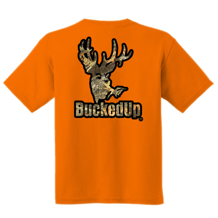 Short Sleeve Orange with Black-Camo Logo